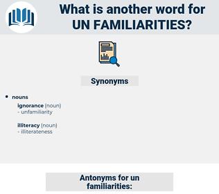 un familiarities, synonym un familiarities, another word for un familiarities, words like un familiarities, thesaurus un familiarities