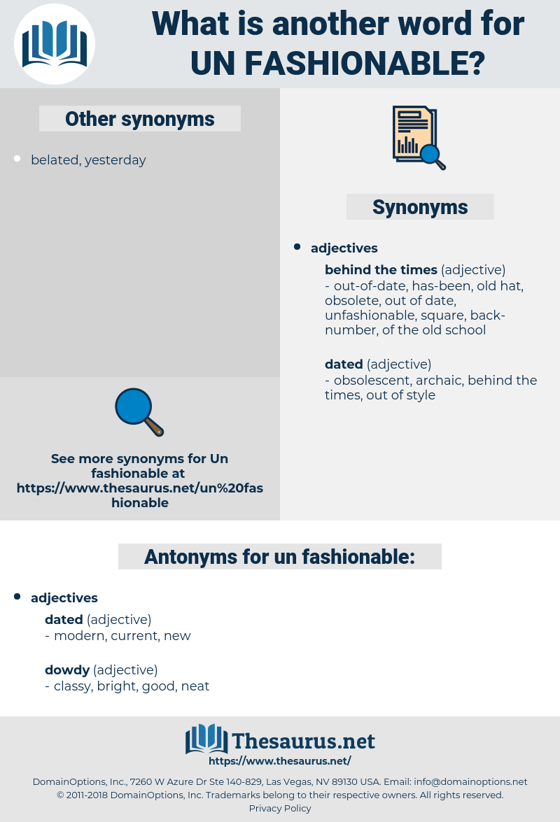 un fashionable, synonym un fashionable, another word for un fashionable, words like un fashionable, thesaurus un fashionable