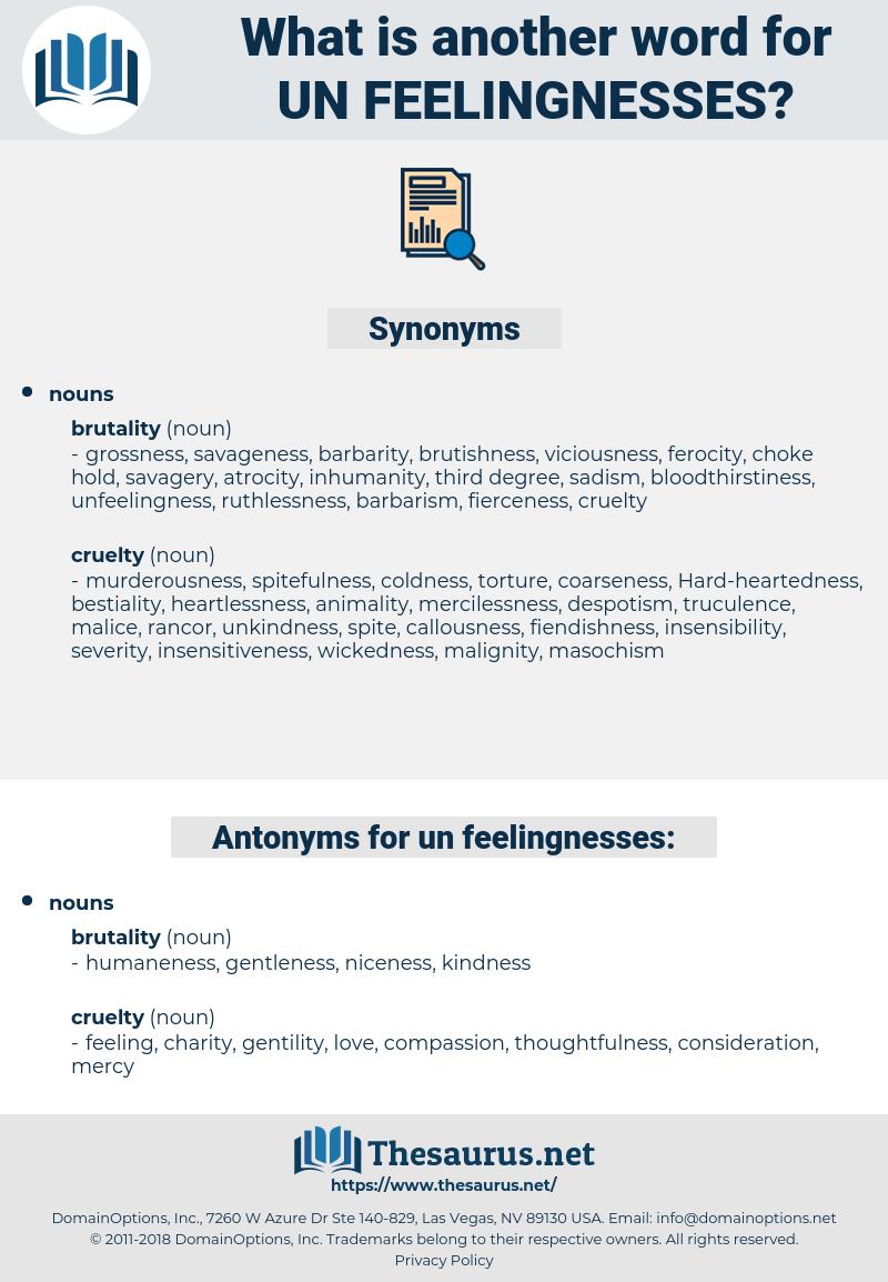 un-feelingnesses, synonym un-feelingnesses, another word for un-feelingnesses, words like un-feelingnesses, thesaurus un-feelingnesses