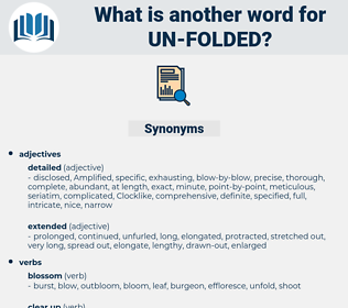 un folded, synonym un folded, another word for un folded, words like un folded, thesaurus un folded