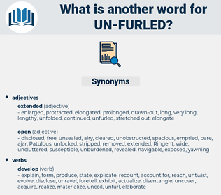 un-furled, synonym un-furled, another word for un-furled, words like un-furled, thesaurus un-furled
