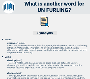 un furling, synonym un furling, another word for un furling, words like un furling, thesaurus un furling