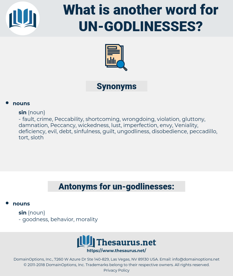 un godlinesses, synonym un godlinesses, another word for un godlinesses, words like un godlinesses, thesaurus un godlinesses