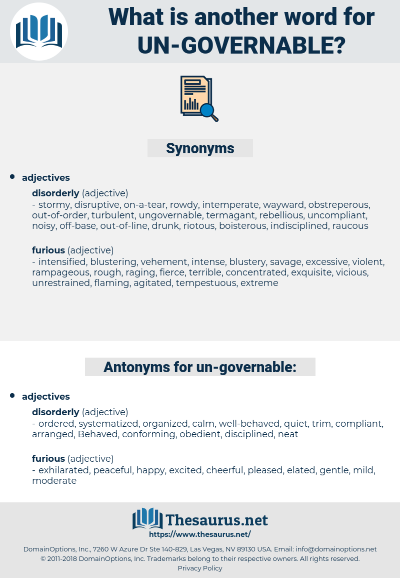 un-governable, synonym un-governable, another word for un-governable, words like un-governable, thesaurus un-governable