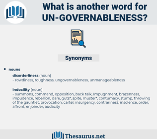 un governableness, synonym un governableness, another word for un governableness, words like un governableness, thesaurus un governableness