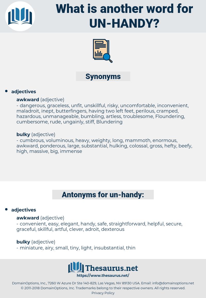 un-handy, synonym un-handy, another word for un-handy, words like un-handy, thesaurus un-handy