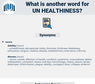 un healthiness, synonym un healthiness, another word for un healthiness, words like un healthiness, thesaurus un healthiness