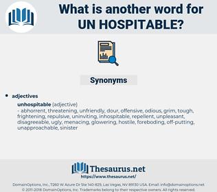 un-hospitable, synonym un-hospitable, another word for un-hospitable, words like un-hospitable, thesaurus un-hospitable