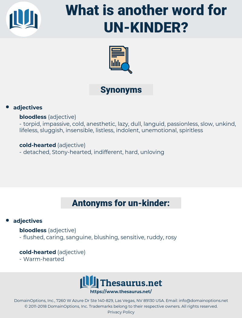 un-kinder, synonym un-kinder, another word for un-kinder, words like un-kinder, thesaurus un-kinder