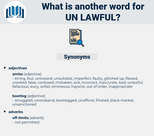 un lawful, synonym un lawful, another word for un lawful, words like un lawful, thesaurus un lawful