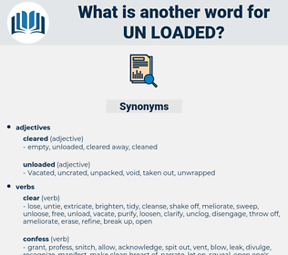 un-loaded, synonym un-loaded, another word for un-loaded, words like un-loaded, thesaurus un-loaded