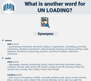 un-loading, synonym un-loading, another word for un-loading, words like un-loading, thesaurus un-loading