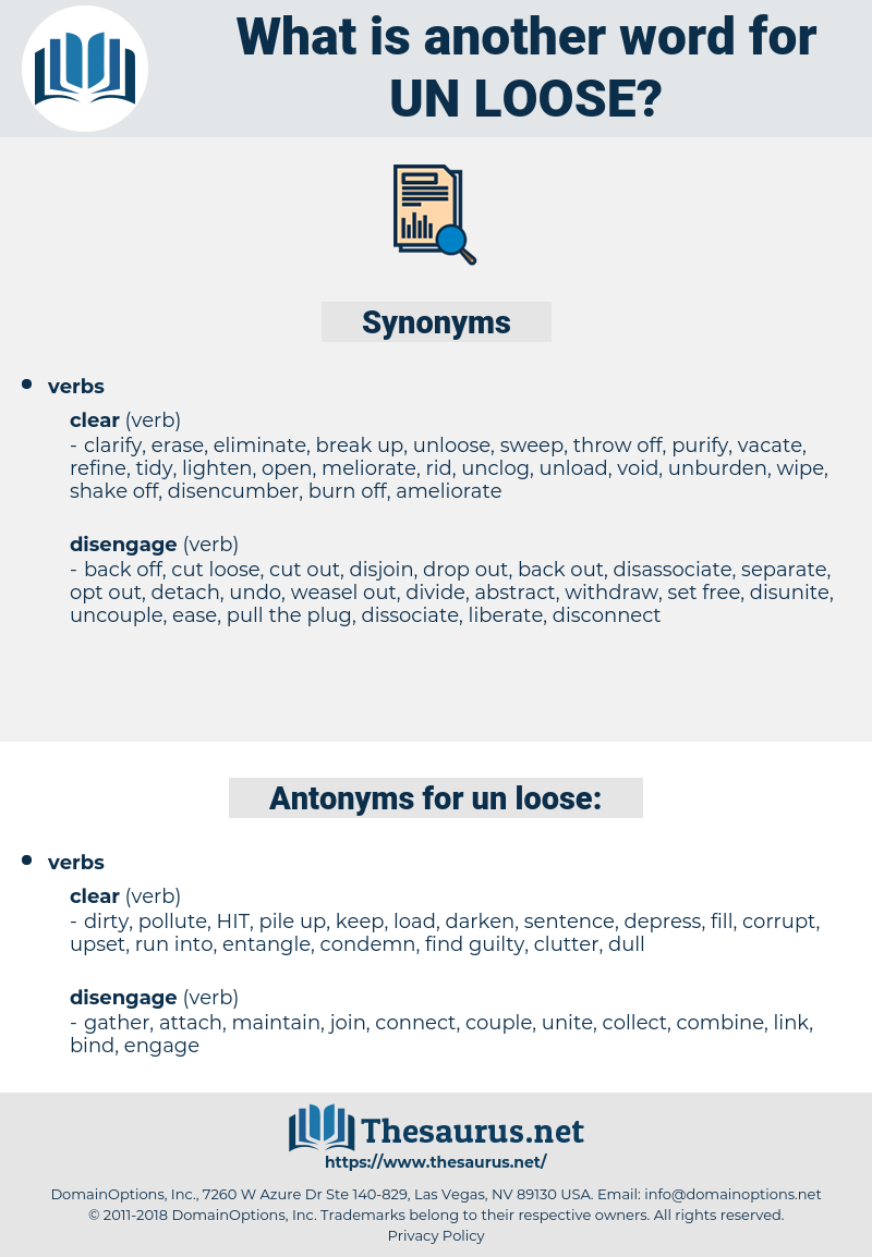 un-loose, synonym un-loose, another word for un-loose, words like un-loose, thesaurus un-loose