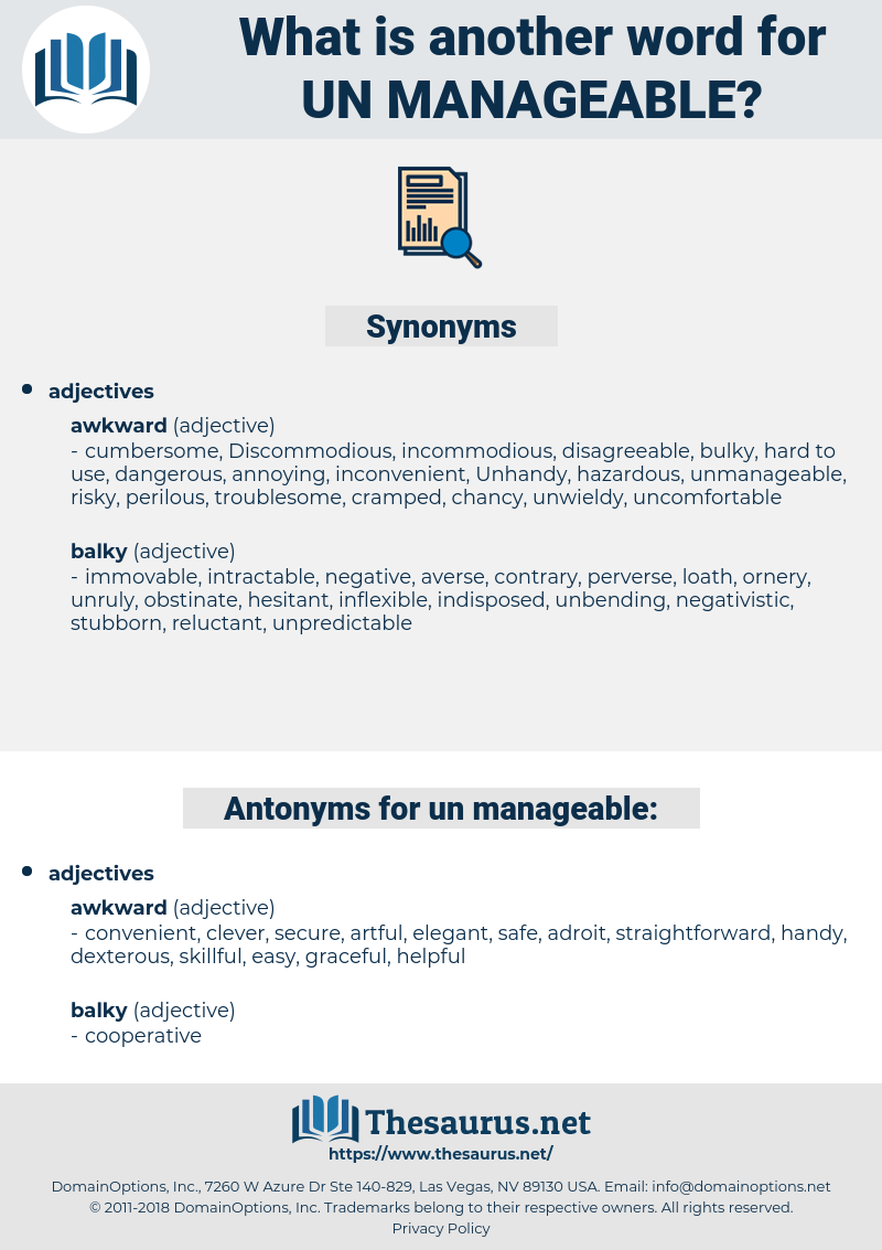 un manageable, synonym un manageable, another word for un manageable, words like un manageable, thesaurus un manageable