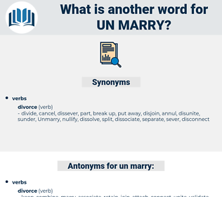 un marry, synonym un marry, another word for un marry, words like un marry, thesaurus un marry
