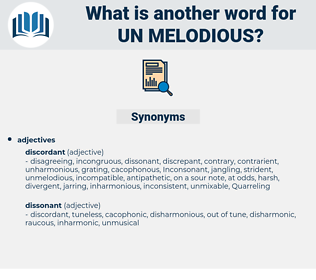 un melodious, synonym un melodious, another word for un melodious, words like un melodious, thesaurus un melodious