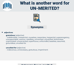 un merited, synonym un merited, another word for un merited, words like un merited, thesaurus un merited