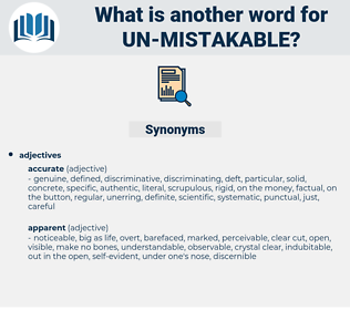 un mistakable, synonym un mistakable, another word for un mistakable, words like un mistakable, thesaurus un mistakable