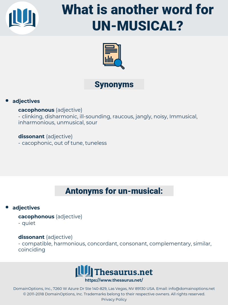un-musical, synonym un-musical, another word for un-musical, words like un-musical, thesaurus un-musical