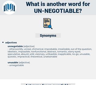 un negotiable, synonym un negotiable, another word for un negotiable, words like un negotiable, thesaurus un negotiable