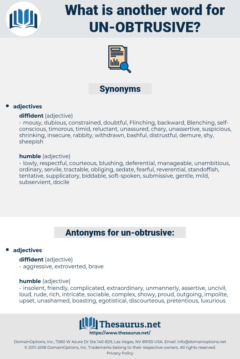 un obtrusive, synonym un obtrusive, another word for un obtrusive, words like un obtrusive, thesaurus un obtrusive