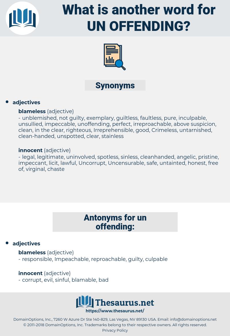 un offending, synonym un offending, another word for un offending, words like un offending, thesaurus un offending