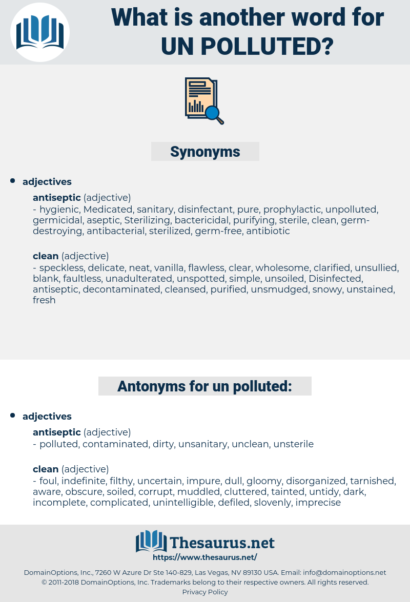 un polluted, synonym un polluted, another word for un polluted, words like un polluted, thesaurus un polluted