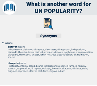 un-popularity, synonym un-popularity, another word for un-popularity, words like un-popularity, thesaurus un-popularity