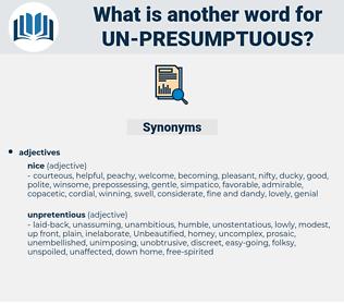 un-presumptuous, synonym un-presumptuous, another word for un-presumptuous, words like un-presumptuous, thesaurus un-presumptuous