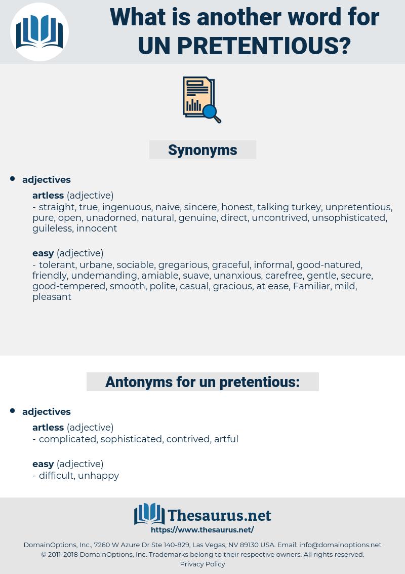 un-pretentious, synonym un-pretentious, another word for un-pretentious, words like un-pretentious, thesaurus un-pretentious