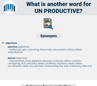 un-productive, synonym un-productive, another word for un-productive, words like un-productive, thesaurus un-productive