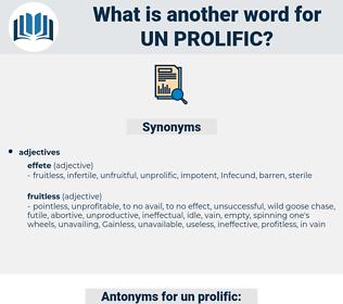 un-prolific, synonym un-prolific, another word for un-prolific, words like un-prolific, thesaurus un-prolific