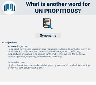 un propitious, synonym un propitious, another word for un propitious, words like un propitious, thesaurus un propitious