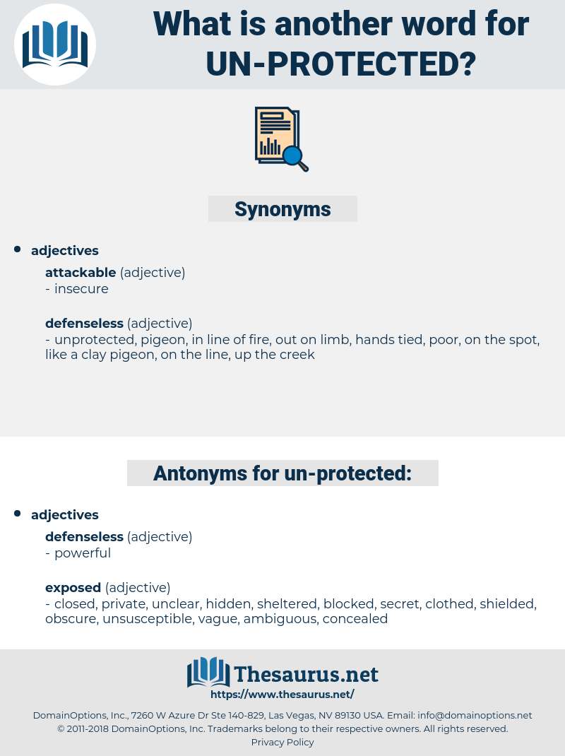 un protected, synonym un protected, another word for un protected, words like un protected, thesaurus un protected