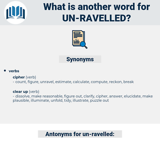 un-ravelled, synonym un-ravelled, another word for un-ravelled, words like un-ravelled, thesaurus un-ravelled