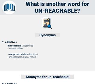 un reachable, synonym un reachable, another word for un reachable, words like un reachable, thesaurus un reachable