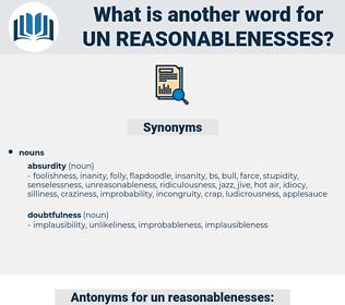 un-reasonablenesses, synonym un-reasonablenesses, another word for un-reasonablenesses, words like un-reasonablenesses, thesaurus un-reasonablenesses