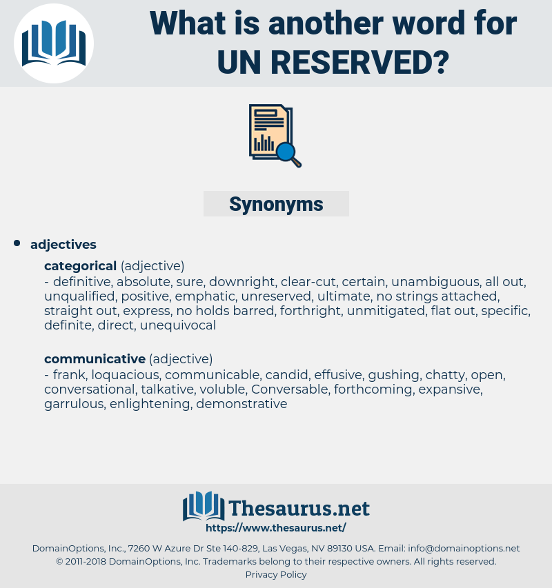un-reserved, synonym un-reserved, another word for un-reserved, words like un-reserved, thesaurus un-reserved