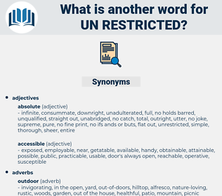 un restricted, synonym un restricted, another word for un restricted, words like un restricted, thesaurus un restricted