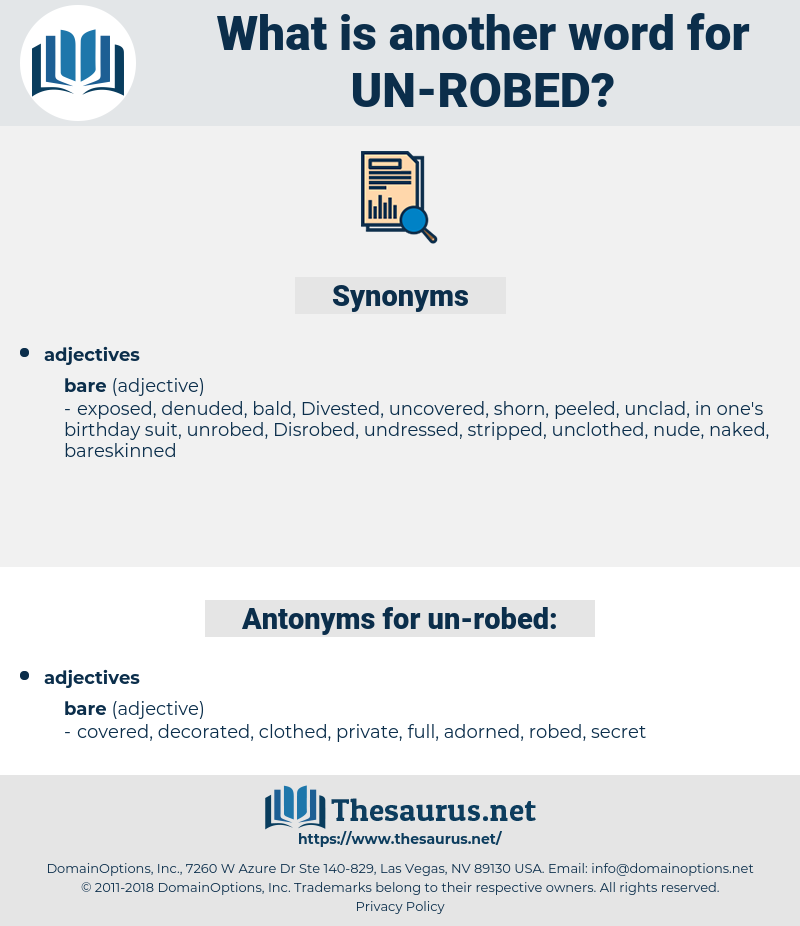 un robed, synonym un robed, another word for un robed, words like un robed, thesaurus un robed