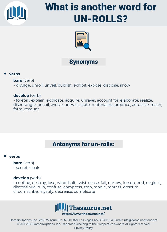 un rolls, synonym un rolls, another word for un rolls, words like un rolls, thesaurus un rolls
