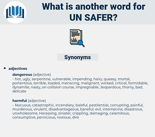 un-safer, synonym un-safer, another word for un-safer, words like un-safer, thesaurus un-safer