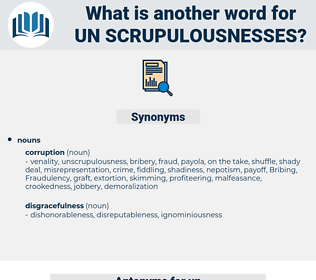 un scrupulousnesses, synonym un scrupulousnesses, another word for un scrupulousnesses, words like un scrupulousnesses, thesaurus un scrupulousnesses
