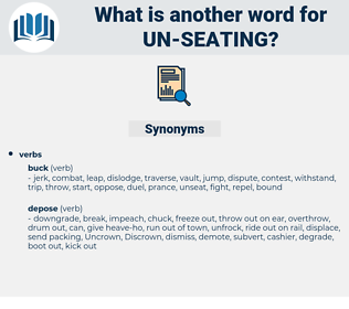 un seating, synonym un seating, another word for un seating, words like un seating, thesaurus un seating