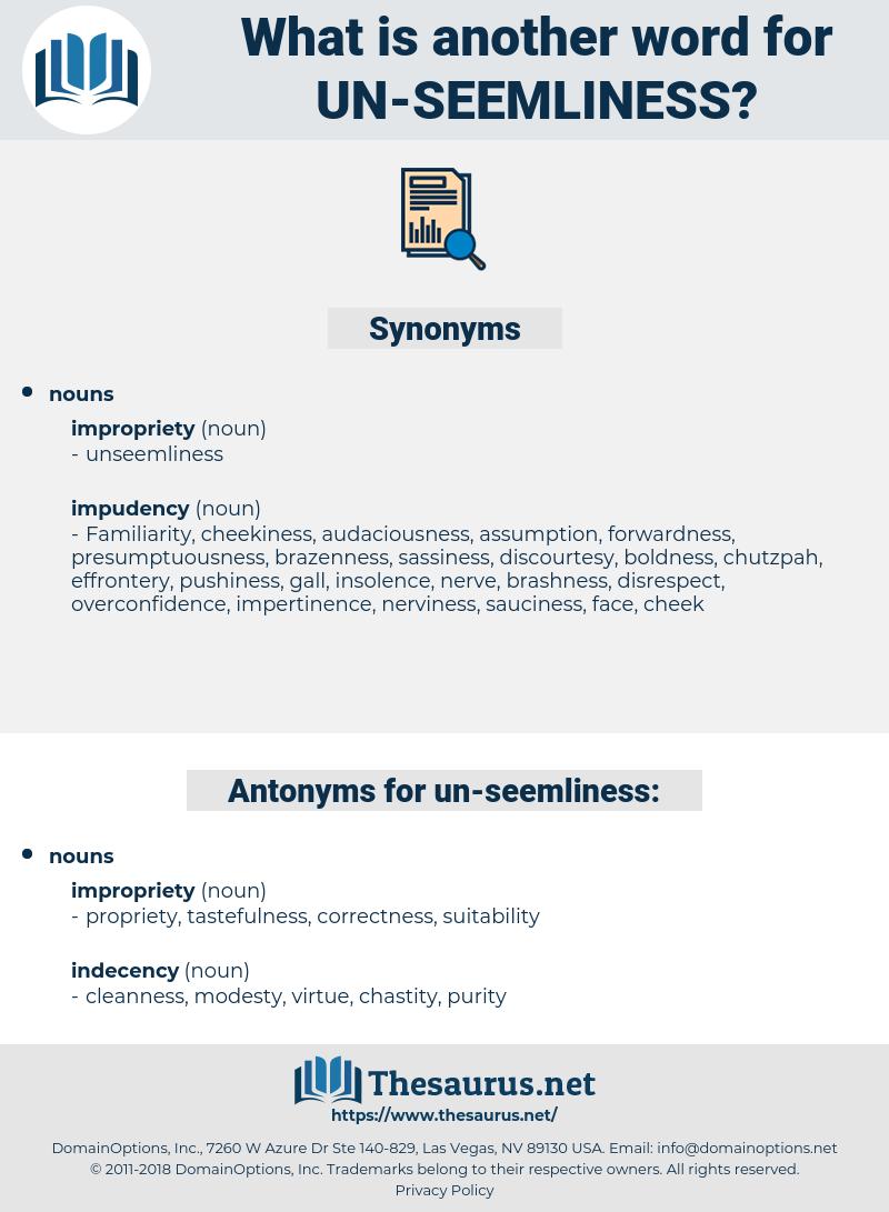 un seemliness, synonym un seemliness, another word for un seemliness, words like un seemliness, thesaurus un seemliness