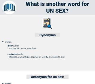 un sex, synonym un sex, another word for un sex, words like un sex, thesaurus un sex