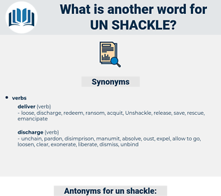 un shackle, synonym un shackle, another word for un shackle, words like un shackle, thesaurus un shackle