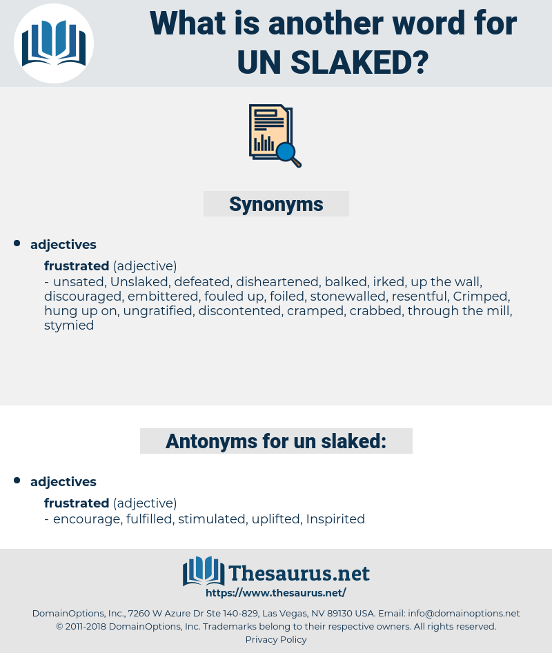un-slaked, synonym un-slaked, another word for un-slaked, words like un-slaked, thesaurus un-slaked