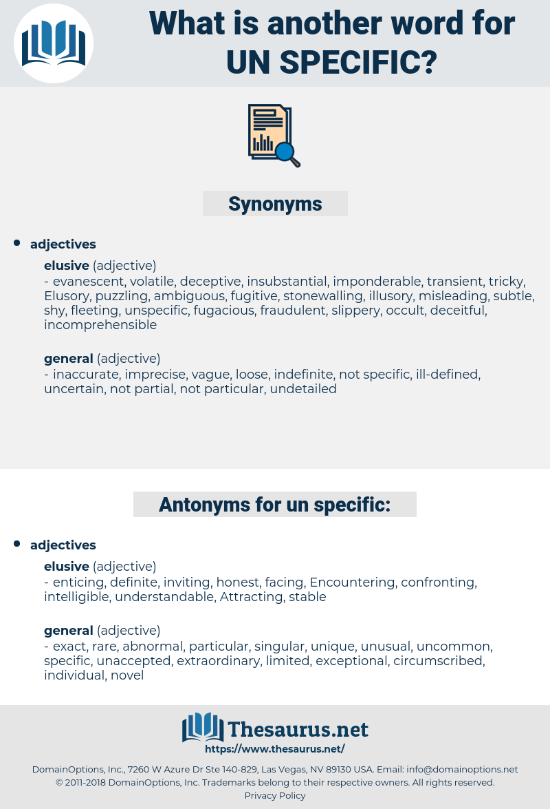 un specific, synonym un specific, another word for un specific, words like un specific, thesaurus un specific