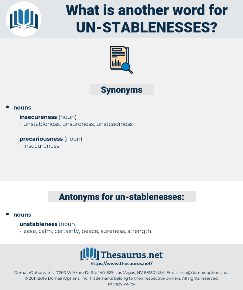 un stablenesses, synonym un stablenesses, another word for un stablenesses, words like un stablenesses, thesaurus un stablenesses